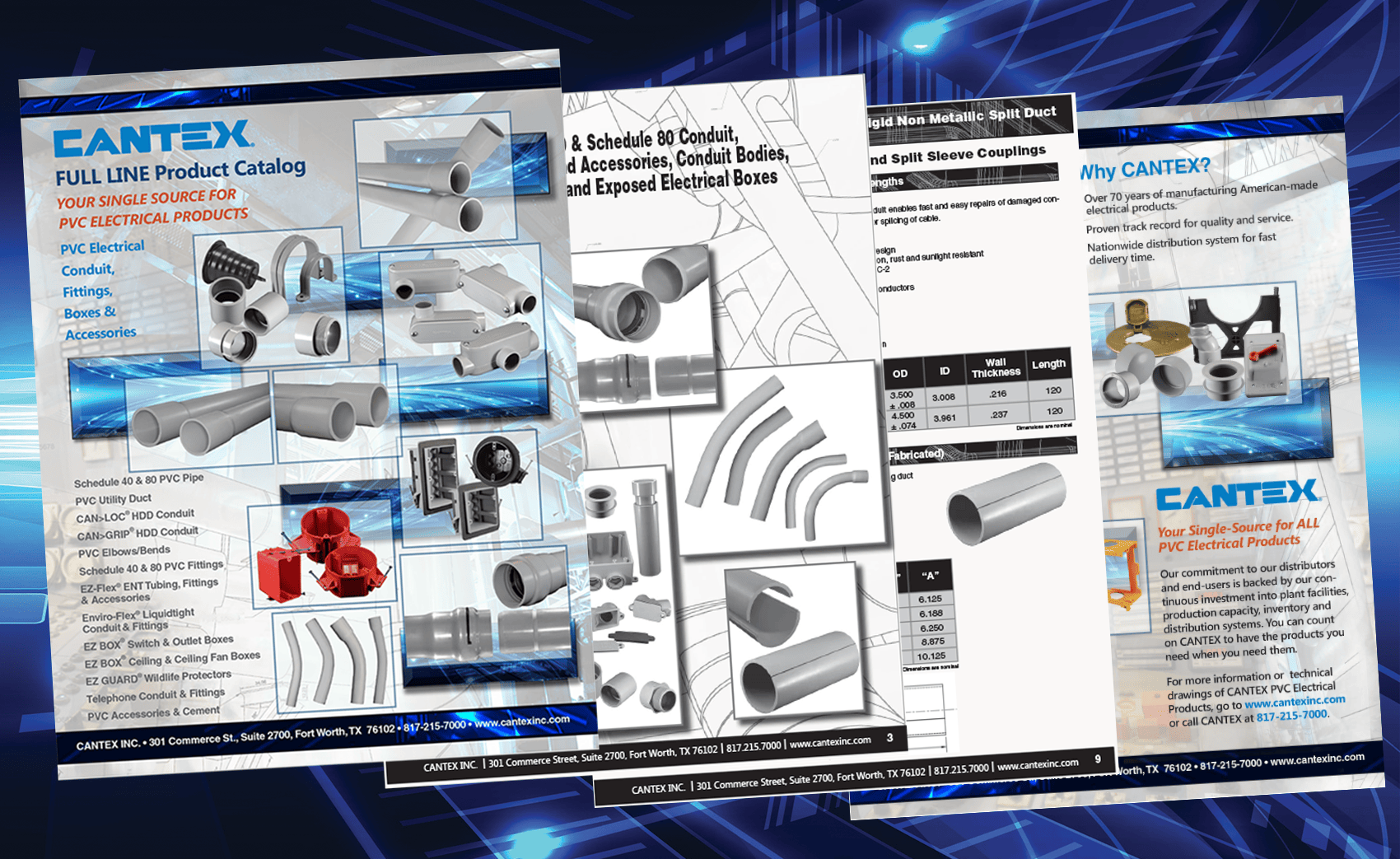 CANTEX LAUNCHES A NEW FULL LINE PVC ELECTRICAL PRODUCT PRINT CATALOG