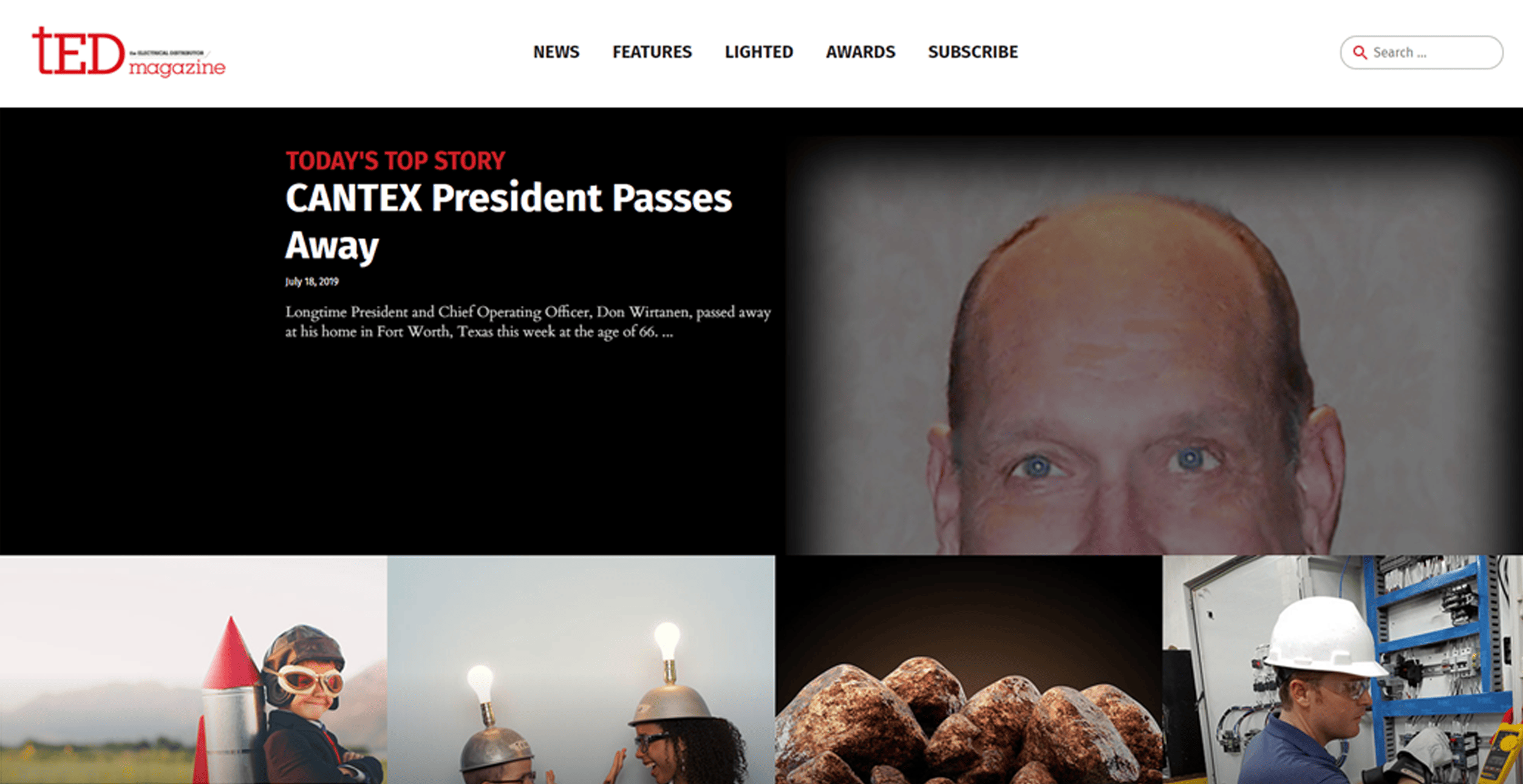 Don Wirtanen Honored with Lead Story in TED Magazine
