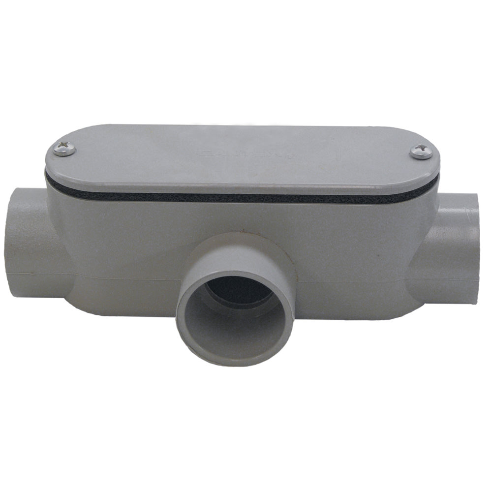Cantex 5133565 1 in. PVC Type T Conduit Body