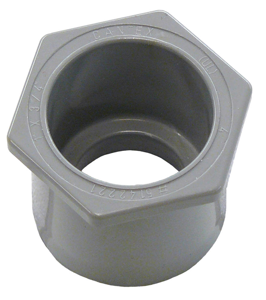 Cantex 5142221 1X3/4 in. PVC Reducer