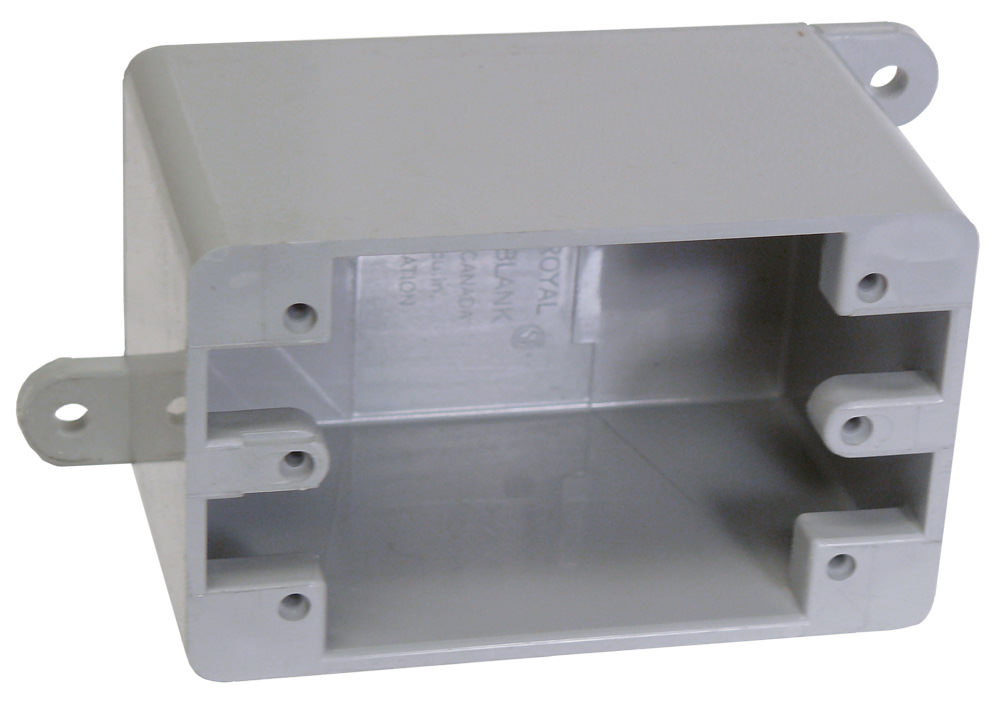 "CTX 5133420 1G PVC FD BOX W/MNT ""ROYAL PLASTICS"""
