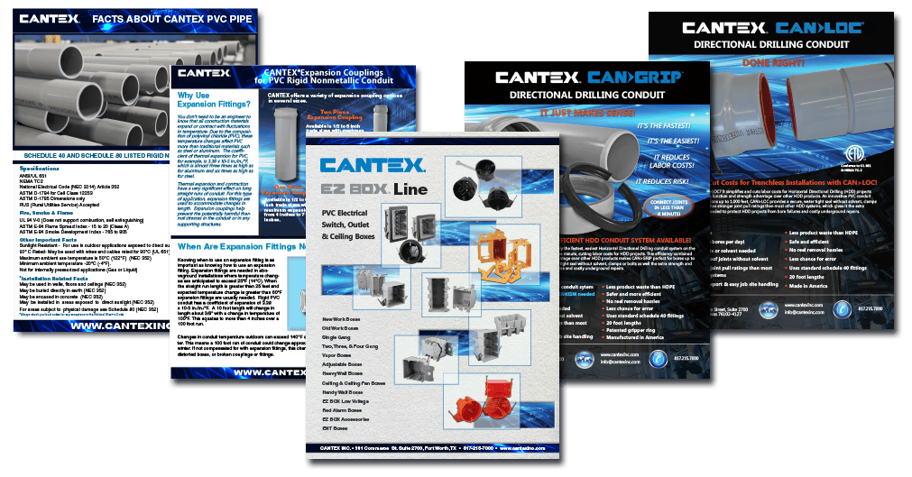 A PLETHORA OF NEW CANTEX PRODUCT INFORMATION AVAILABLE